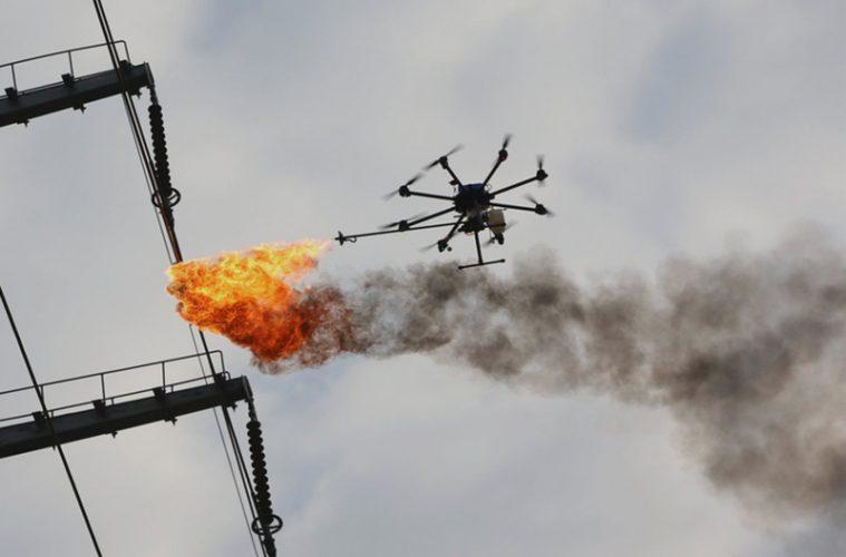 Китайский дрон огнемет