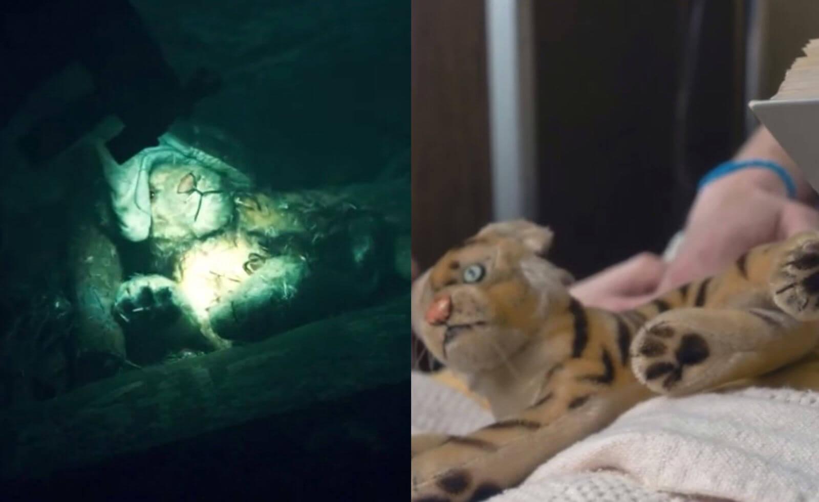 Игрушка-тигр в комнате Одиннадцатой