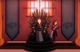 Санса и Арья на престоле