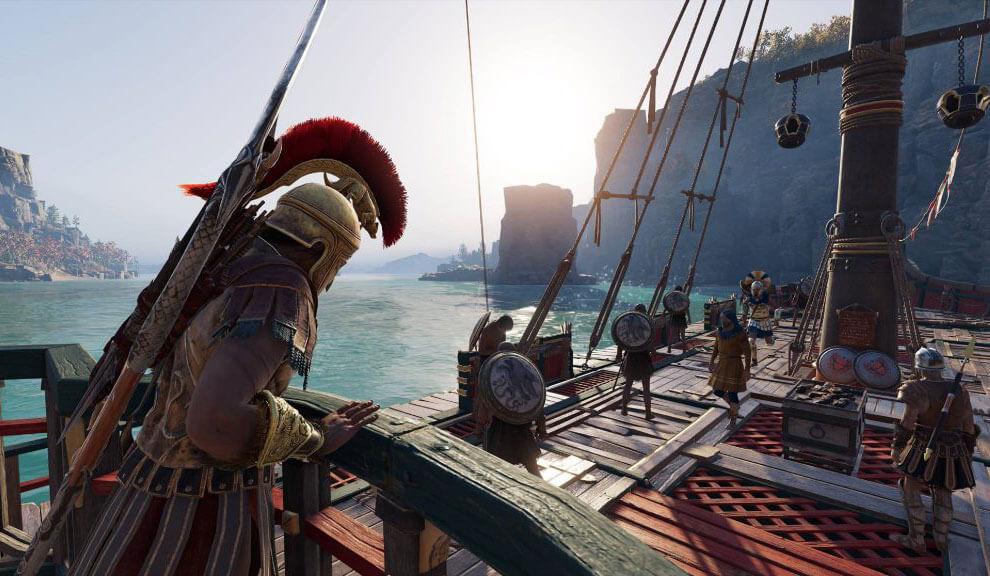 Assassin's Creed Odyssey корабль