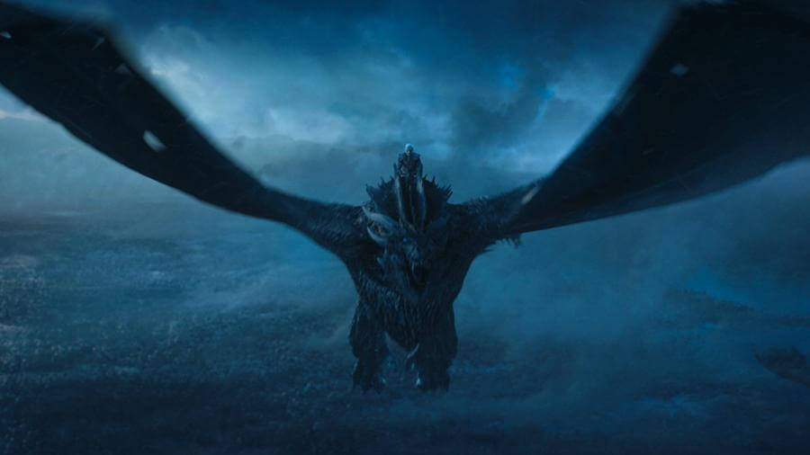 Король Ночи на драконе