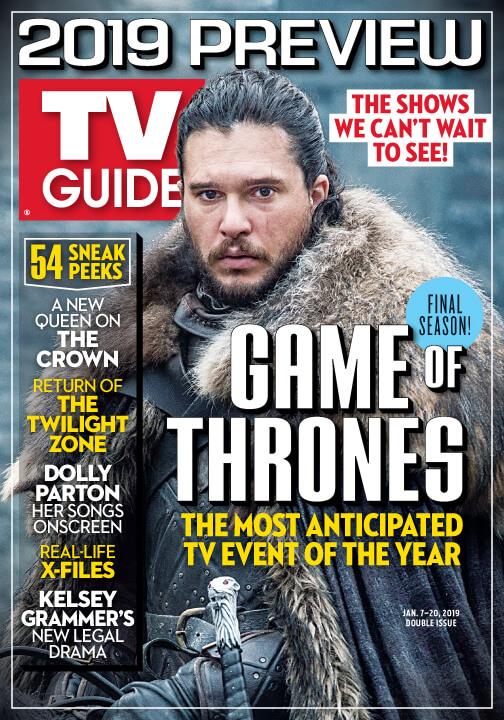 Обложка TV Guide 8 сезона Игры престолов