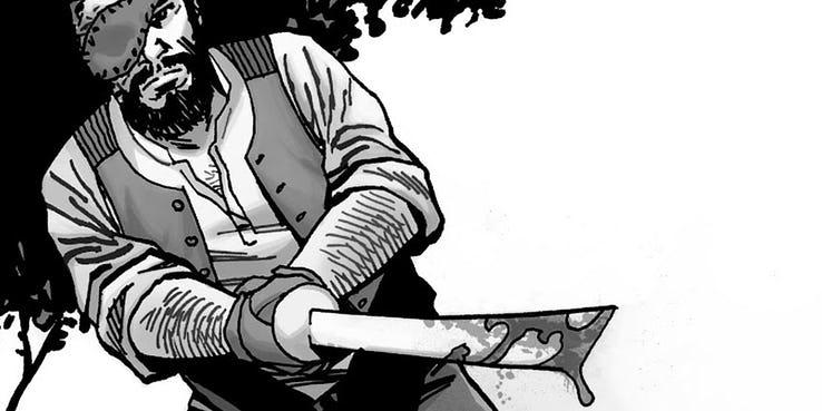 Ходячие мертвецы комикс Карл