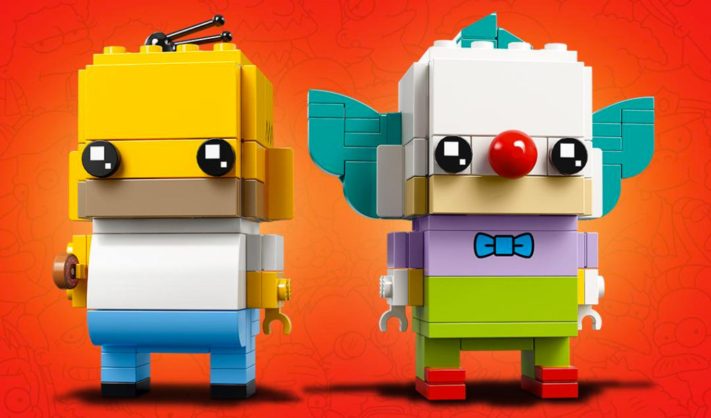 Lego The Simpsons Homer and Krusty the Clown BrickHeadz